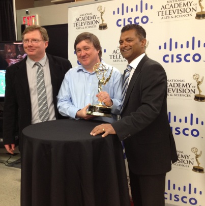 Left to right: Dave Stephenson, director of engineering; Wayne Sheldrick, technical leader; Nitin Kawale, president, Cisco Canada