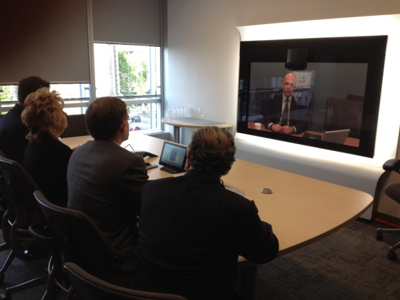 The new Quebec City office includes Cisco TelePresence screens.