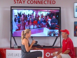Eugenie Bouchard at the Rogers Connected Zone