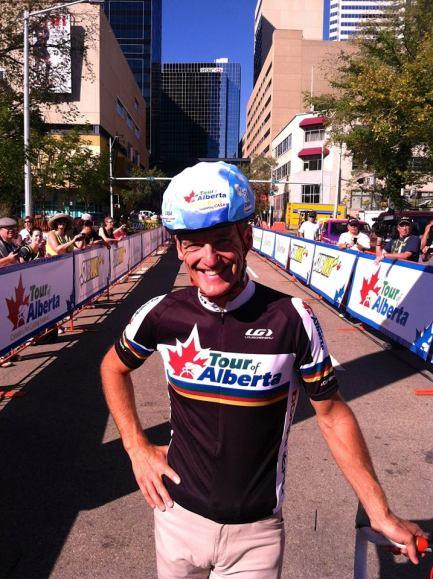 Alex Stieda at the Tour of Alberta Family Ride. Photo courtesy Tour of Alberta (Facebook).