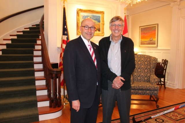 Former Ambassador David Jacobson and Cisco's William MacGowan at Lornado, 2012