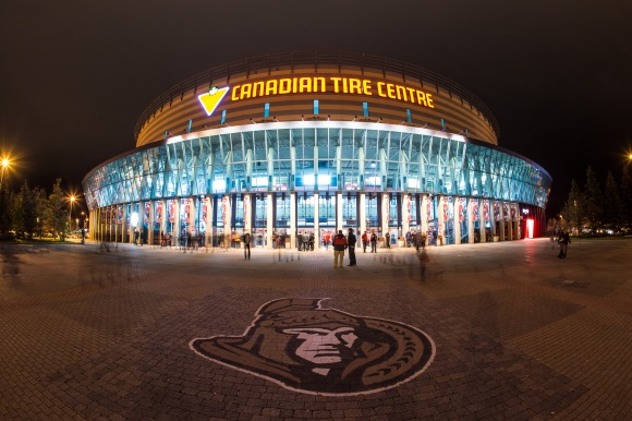 The Canadian Tire Centre. Photo courtesy Andre Ringuette/NHLI via Getty Images.