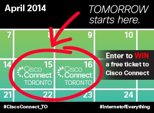 Win a FREE ticket to Cisco Connect Toronto