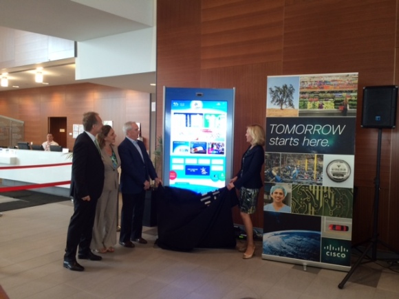 "We unveiled a 65"" interactive Cisco iServices kiosk in the atrium of the Abilities Centre."